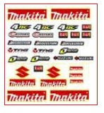 PIT DIRTBIKE MAKITA DECAL KIT