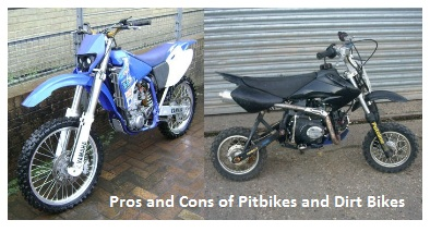 Pros and Cons of Riding Pitbikes and Dirt Bikes