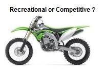 Recreational or Competitive kawasaki dirt bikes