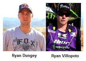 Ryan Dungey and Ryan Villopoto dirtbike giants