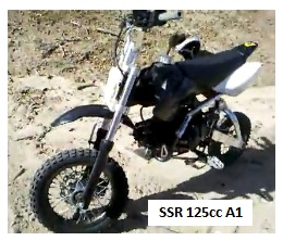 SSR 125cc A1 Mini pit bike