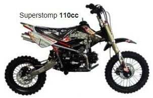 Superstomp 110 cc pitbike minibike