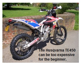The Husqvarna TE450 can be too expensive for the beginner