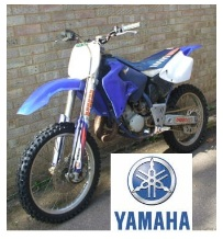 The Yamaha YZ125 dirt bike motocross bike