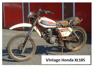 Vintage Honda XL185 barn find motocross bike