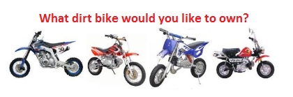 What dirt bike would you like to own when you go shopping