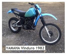 classic YAMAHA Vinduro 1982 motocross dirtbike