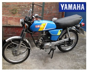 Yamaha FS1M sports moped 50cc engine