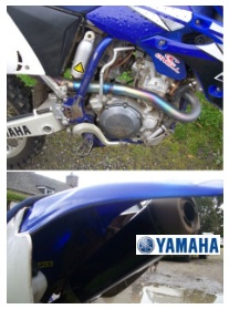 Yamaha dirtbike motorcross mx exhaust pipes