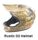 a D2 Composite Rustic Helmet for pit bikes