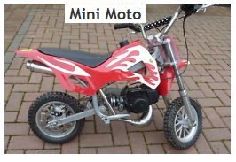 a childs mini moto dirt bike