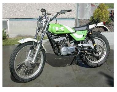 about dirt bikes old kawasaki