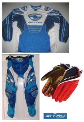 alloy motocross jersey pants gloves