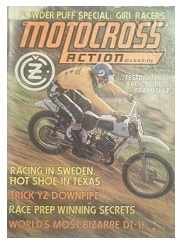 an old motocross action magazine from 1974