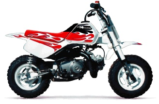 bike dirt honda mini