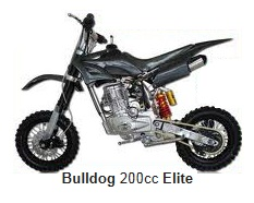 bulldog elite pit bike 200cc 4 stroke engine