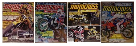 classic motocross action magazine covers