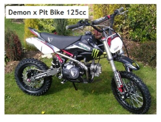 demon x pitbike 125cc off road motorbike