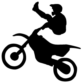 dirt bike clipart