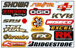 dirt bike decals mx sticker sets