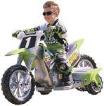 a dirt bike kid on a kawasaki super shock