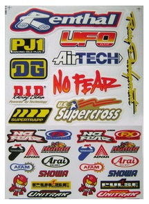 dirt bike motocross decal sticker sheet