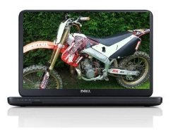 dirt bike wallpaper on a laptop computer