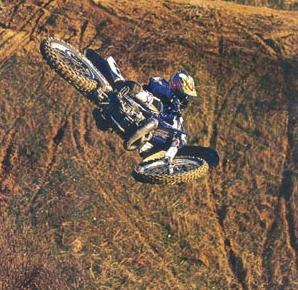 dirt bikes in the air