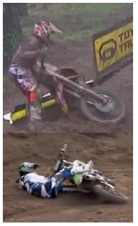 dirtbike accidents MX crashes and falls