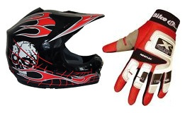 dirtbike mx helmet gloves