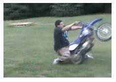 falling off a mini motocross bike