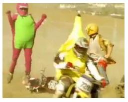 fancy dress mini moto race vid