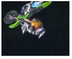 fmx action from freestyle dirtbikers