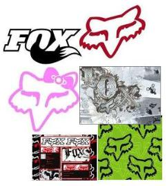 fox racing layouts fox racing stickers