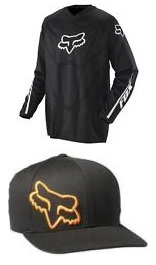 fox racing logo hat cap and jersey