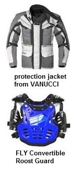 full body protection jacket from VANUCCI and a FLY Convertible Roost Guard