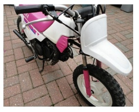girls childrens pink pw50 yamaha motocross bike
