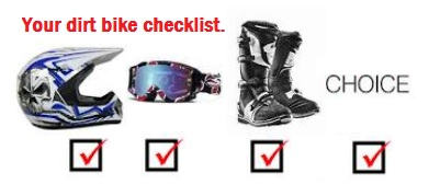 have a dirt bike checklist of accessories to buy