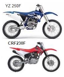 honda CRF230F Yamaha YZ250F