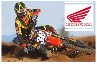 honda motocross racing team in action