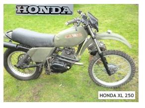 honda xl250 dirtbike - a vintage motocross ride