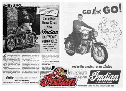 indian vintage motorcycle ads pictures pages