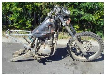 junk scrap dirt bike motocross motorbike