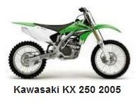 Kawasaki KX 250 dirt bike 2005 model