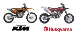 ktm dirt bike and the Husqvarna motocross motorbike