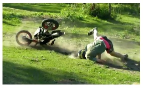mini dirt bike crash accident