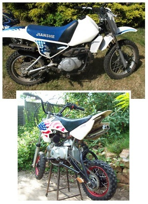 mini motocross small motocross bikes