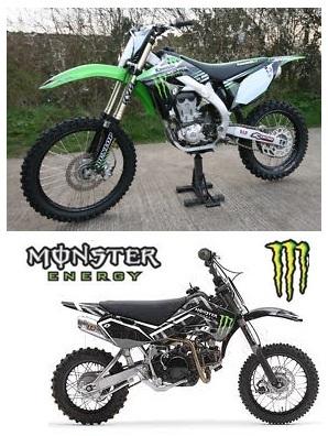 monster pit bike 110cc pit bike
