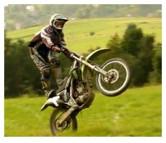motocross dirtbike wheelie on a motorbike