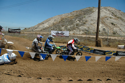 motocross races with honda bikes